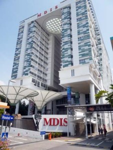 MDIS Singapore Residences costing S$80 million, the new 15-storey on-campus student hostel consists of 782 air-conditioned rooms, 14 suites, a lecture theatre and cafeteria.